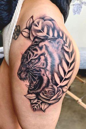 Realistic tiger tattoo (WIP)