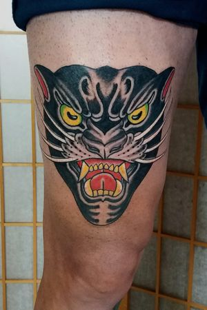 Panther head. Bold will hold #japanese #irezumi #linktattoo #melbourne