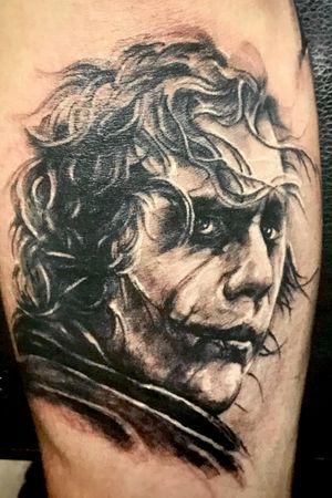 Joker tattoo by Kimmy Tan. 2015