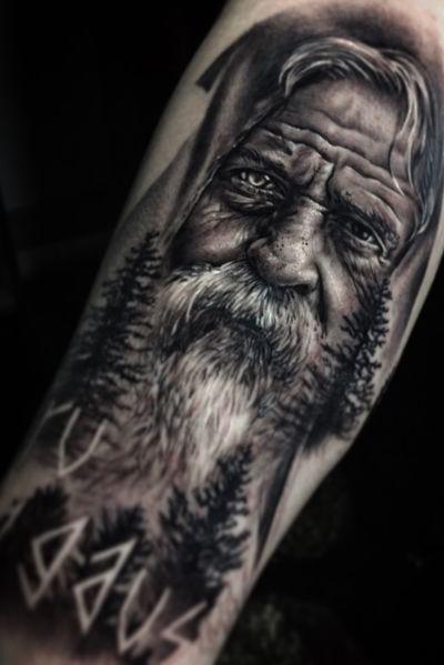 #portait #realism #realistic #colorrealism #photorealism #stockholm #blackandgrey #tattoo #blackandgrey #odin #viking #vikingtattoo