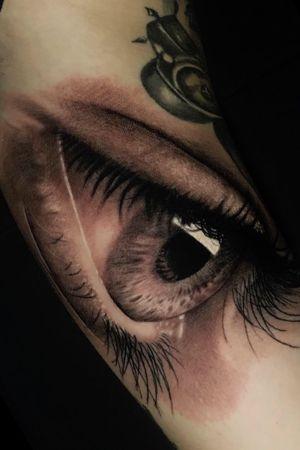 the EYE @poppinowillinkya #eyetattoo #eye #eyes #realism #realistictattoo #poppino #inkspired