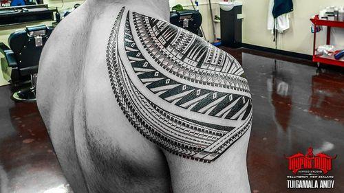 Back view #freehand #samoan shoulder
