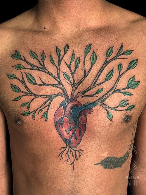 #Anatomicalheart #tree #neotrad #neotraditional #colortattoo #customtattoo