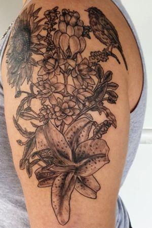 Floral half sleeve