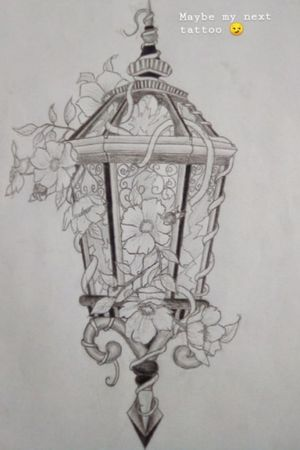 A Street lamp taken over by mother nature drawn by me