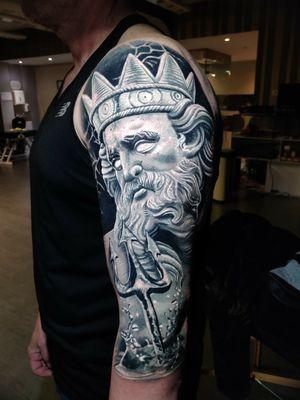 Zeus with trident