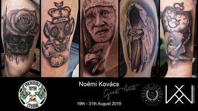 Guest spot in Sheffield #germany #hungary #uk #malta #tattoomodel #tattooartist #noemikovacs #noemikovacstattoo #blackandgrey #realistictattoo #noemikovacsmakeup #tattoomodel #realism #tattoodo #cosmetictattoo