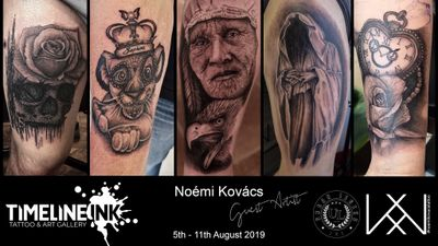 Guest spot 5th - 11th August #germany #tattooartist #noemikovacs #noemikovacstattoo #blackand grey #realistictattoo #noemikovacsmakeup #tattoomodel #realism #cosmetictattoo