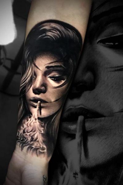 #marco #pik #ass #marcopikass #pikasstattoo #pikass #ketsch #heidelberg #mannheim #germany #german #portrait #art #artwork #face #lady #girl #woman #beautiful #sexy #3d #fire #smoke #smoking #vape