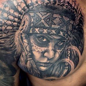 #blackandgrey #tattooartist #portrait #native #face