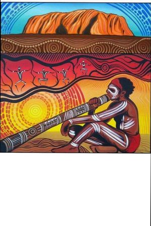 Aboriginal Man, uluru, Australia