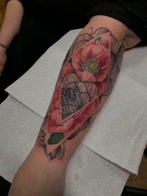 Collaboration tattoo with boris bianchi color me black him