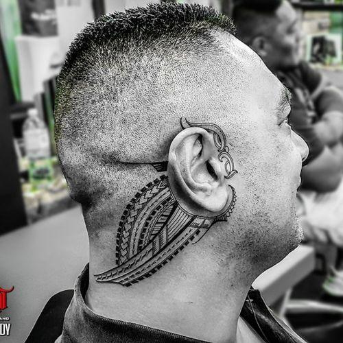 #freehand #samoan #maori #manaia ear piece