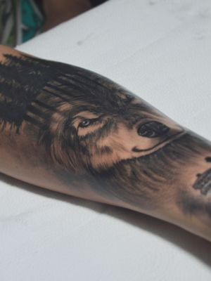 #lobo #tatuagem #tattoo #pretoecinza