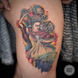 Frida Kahlo with death