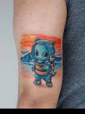 Squirtle tattoo by Emir Geylani @emirgeylani7 #pokemon #pokemontattoo #squirtle #neotraditional
