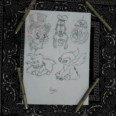 Personagens sketch 🌙 @cassio_drawings #desenhos #drawings #designs #tattoodesigns #tattooideias #lineart #inktattoo #tattooinspiration #inkgirl #ignorantstyle #brutaltattoo #sketchtattoo #pointillism #Flashtattoo #tattoo #flashtattoo #art #fanarts #disney