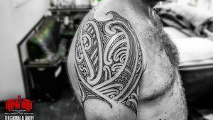 #freehand #maori #kirituhi shoulder tattoo