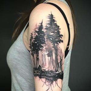 Long and fun session for this new kind of project. Really loved doing it! Dm if you are interested in something like this! 🥦🌲🌳🍃🌿🌱🍀☘️ #armtattoo #treetattoo #pinetree #foresttattoo #tatts #tattoo #tattoos #rootstattoo #tattooart #artwork #realism #inked #ink #realistictattoo #guiartwork #blackandgrey #blackandgreytattoo #darkforest #darkartists #realismtattoo #tattoosofinstagram #inkstagram #berlintattooartist #subculturetattoo #hustlebutterdeluxe  #electrumstencilprimer #kwadron #tätowierung #blackwork #blackworkers