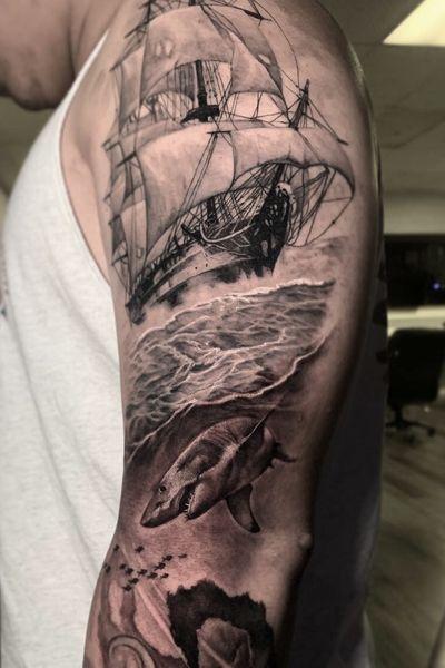 #shark #nautical #ship #oldwoodenship