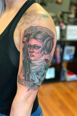 Neoteaditional Princess Leia!! So stoked to do this one.