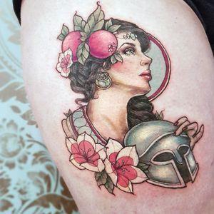 Persphone tattoo from my flash, done at @stellalunastudios ! Happy healing and enjoy your honey moon 👰🏻🤵🏻 . . . . . . . . #greekgod #ladyface #torontotattooartist #neotraditonallady #pinup #GreekGoddess #tattooflash #gemtattoo #ladyface #ladyheadtattoo #ladyfacetattoo #roseflash #greekmythology #fantasytattoo #turquoisetattoo #facetattoo #neotraditional #persephonetattoo #pinuptattoo #labradoritetattoo #neotradionaltattoo #womantattoo #ladyhead #neotraditionallady #pastel #portrait #neotrad