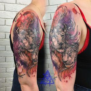 Lions tattoo #alexkonti #tattoosketch #watercolor #watercolortattoo #gdansk #gdynia #gdańsk #sopot #trojmiasto #tatuaz #liontattoo