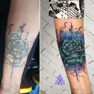 Cover Up #alexkonti #tattoosketch #watercolor #watercolortattoo #gdansk #gdynia #gdańsk #sopot #trojmiasto #tatuaz