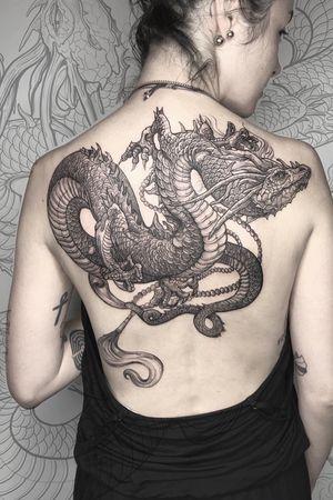 #dragon #tattoo #lescrow #art