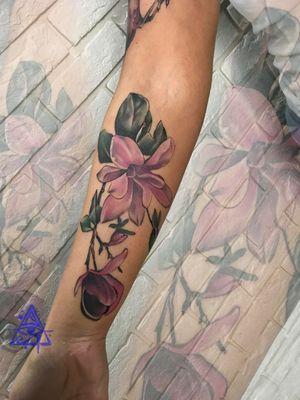 Flower tattoo #alexkonti #tattoosketch #watercolor #watercolortattoo #gdansk #gdynia #gdańsk #sopot #trojmiasto #tatuaz #flowers