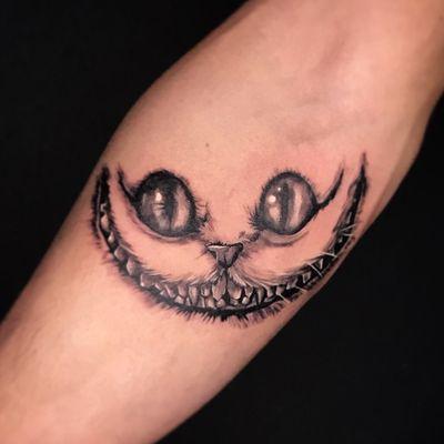 #aliceinwonderland #disneytattoo #disney #cheshirecat #wonderland #cheshirecattattoo #subculturetattoo #inkjectanano #berlintattoo #tattoo #tattoos #tatt #superbtattoos #ink #tattooink #tattooloveart #tattooartist #inklife #worldtattoo #subculturetattoo #friedrichshain #darkartist #tattoo #tatts #guiartwork #tattoodo #realism #electrumstencilproducts