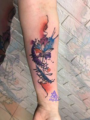 Watercolor flowers #alexkonti #tattoosketch #watercolor #watercolortattoo #gdansk #gdynia #gdańsk #sopot #trojmiasto #tatuaz #flowers