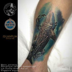 Is always nice to see a properly healed tattoo that I've done on my client. 😁🙏🏻 #tattoo #tattooed #tattoolover #ilovetattoo #sgtattoo #singaporetattoo #healedtattoo #animaltattoo #whaleshark #colortattoos #legtattoo #coveruptattoo #ericartistica #ericlohtattoos #artistica #artisticatattoo #artisticasingapore #balmtattoo #balmtattoosg #balmtattoosingapore #balmtattooartist #balmtattooteamsg #dragonbloodbutter #nedzrotary #criticaltattoosupply
