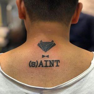 Saint tat design
