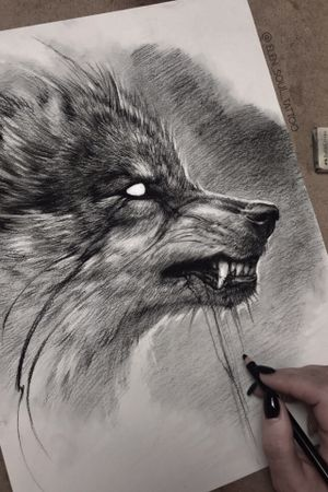 #wolf #dark #blackandgray #evil #design #elensoul