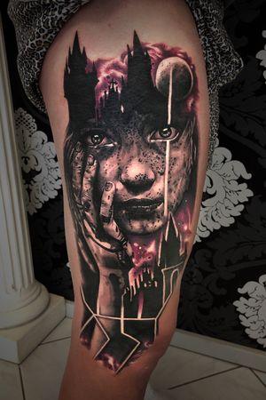 Two days in a row. Tattoo by Kevin Pomponi. #tattoo2me #tattooed #tattooer #tattoolife #tattoosleeve #tattoo #tatt #tattoos #tattoomodel #tattoorealistic #tattooing #tattooist #tattooartist #tattooedgirls #tattooideas #tattoodo #theblackandgreytattooleague #tattooart #tattoolife #tattoolifemagazine #tattoohand  #handstattoo #mercury #space#tattoolegs #tattooist