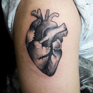 Heart tattoo #blackandgreytattoo #phukettattoo
