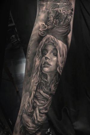 Mary Magdalene #religious #religioustattoo #forearm #torontotattoos