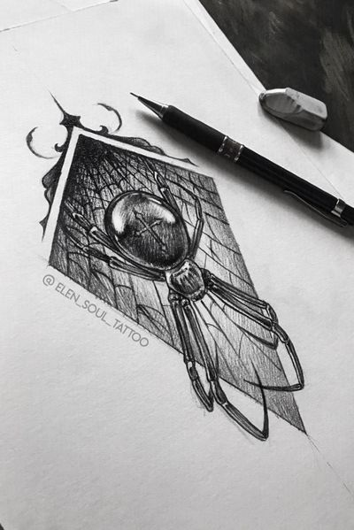 #spider #blackandgray #pencil #horror #dark #individual #elensoul