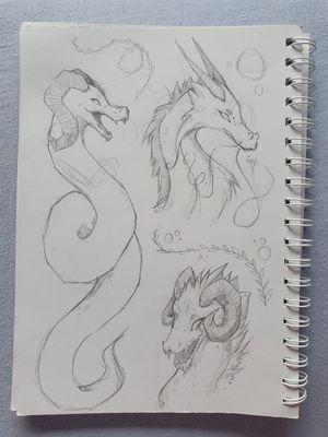 Wip Dragons ♡ • • • • • #dragons #design #flash