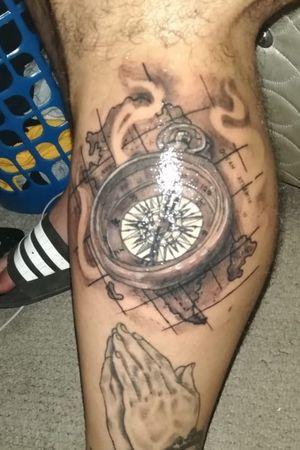 Brujula tattoo . Chile