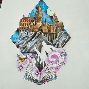 Harry potter, Hogwarts castle.