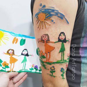 Illustrative tattoo by Dana Art Tattoo #DanaArtTattoo #tattooideas #illustrativetattoos #tattooswithmeaning #meaningfultattoos #tattoocommunity #drawingtattoos