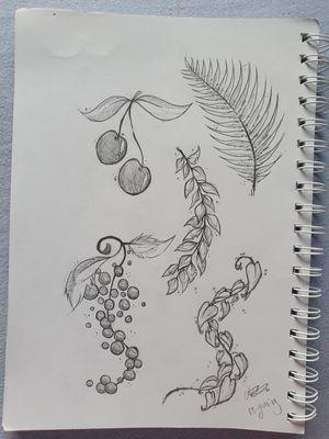 Working on my plants! • • • • • #plants #leafs #fruit #design #flash