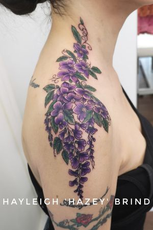 #floraltattoo #shouldertattoo