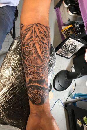 Jungle theme tiger