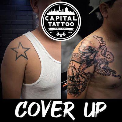 No hay excusa 🙌 #coverup de Rich Tatto Aguirre 🤩ya sabes, no cuesta nada preguntar 😎👍 . . . . . #capitaltattoomexico #fuckingvida #ink #inked #tattooed #tattooartist #tattooart #tattoolife #inkedup #inkedgirls #girlswithtattoos #instatattoo #bodyart #tattooist #tattooing #tattooedgirls #blackwork #cobertura #coverup #tatuaje #pulpo #kraken
