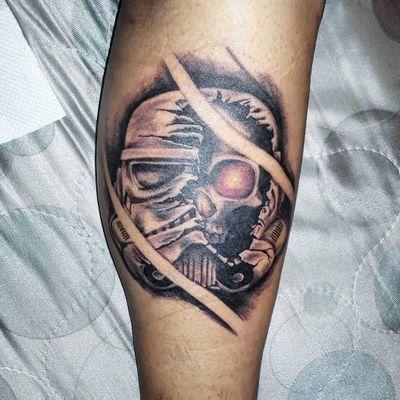 #tattoo #starwars #stormtrooper #stormtroopertattoo #starwarstattoo #blackandgrey #realistic #realistictatto