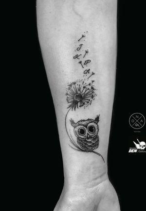 #smalltattoo #tattoogdansk #gdansktattoo #owl