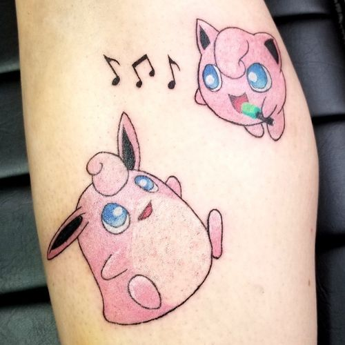 #pokemontattoo #pokemon #yeg #yegtattoos #jigglypuff #wigglytuff #pink